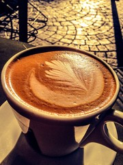 orange café mocha with classic cobblestone