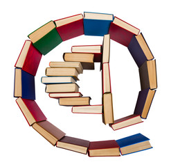 Alphabet made out of books, e-mail symbol