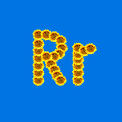 Sunflower letter R