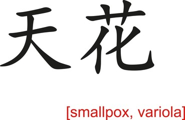 Chinese Sign for smallpox, variola