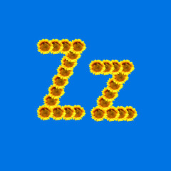 Sunflower letter Z