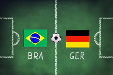 Brasilien spielt gegen Deutschland
