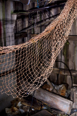 Disused old fishing nets.