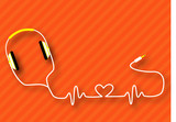 Fototapety headphones_heart