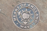 Heart of England Way Marker In Lichfield, Midlands, England. poster