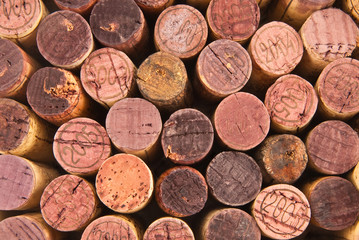 Different wine cork tops