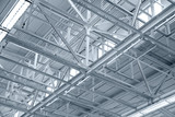 Structure of metal industrial roof