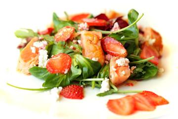 Gourmet salad, food restaurant background
