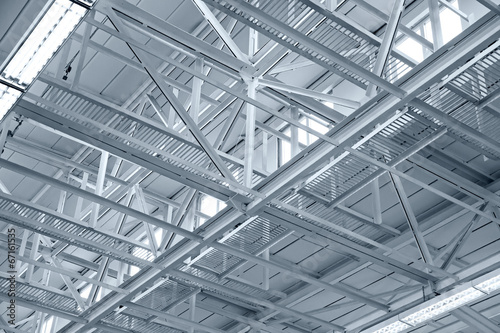 Structure of metal industrial roof - 67161535