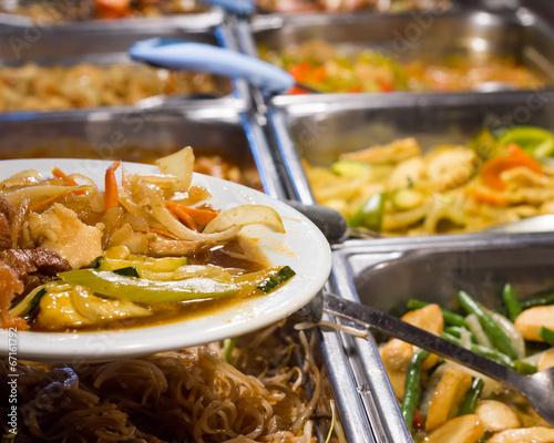Fotobehang Restaurant cuisine asiatique
