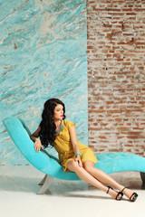 Fashion model posing, luxury portrait