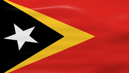 Waving East Timor Flag, ready for seamless loop.