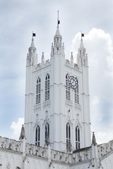 Main tower at the entrance of St. Paul's Cathedral Kolkata