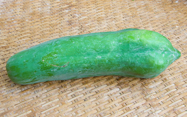raw papaya is an ingredient used to cook papaya salad