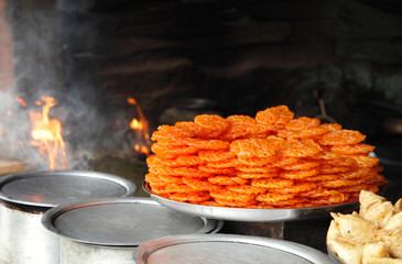 Delicious Indian sweet jalebi
