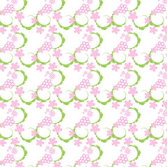 abstract vector floral seamless pattern background