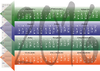 Daily Monthly Yearly 2016 Calendar Planning Chart