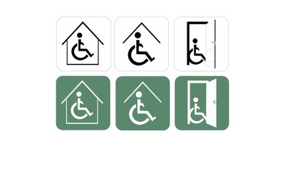 Man on wheelchair, disability room