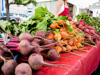 Organic vegetables on the market