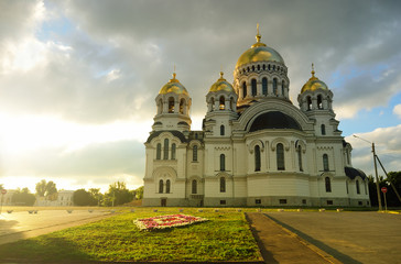 Host Ascension Cathedral. Novocherkassk. Russia. Sunset