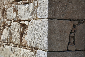 Italy, Sicily, countryside, typical sicilian stone wall