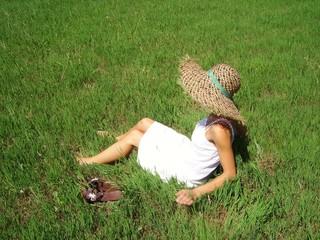 Mujer en la campiña