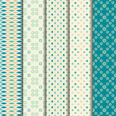 5 Different summer vector patterns