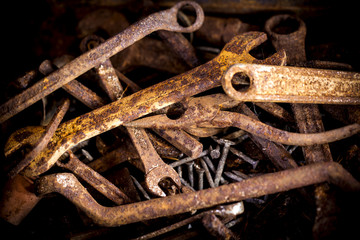 Rusty tools.