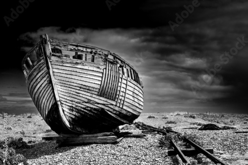 Old fishing boat. - 67166138