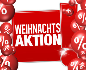 Christmas Offer in german language Weihnachtsaktion