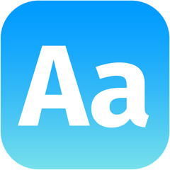 Enlarge font Internet button Icon App Apps AA