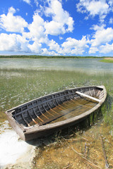 Old wooden boat, Hiiumaa island, Estonia