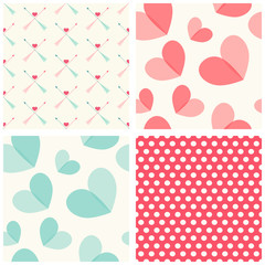 Seamless heart patterns