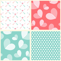 Seamless heart patterns 2
