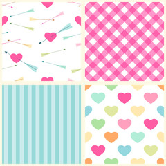 Seamless heart patterns 4