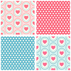 Seamless heart patterns 5