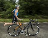 Triathlet mi dem Fahrrad