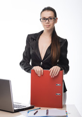 Businesswoman  working on her computer at the office
