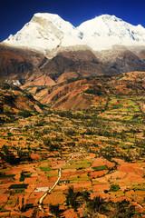 Huascaran Peak (6768m) in Cordiliera Blanca, Peru, South America