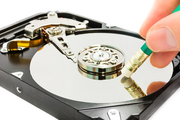 Deleting data from the harddisk