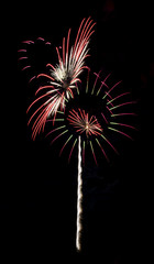 Pinwheel Fireworks Isolated