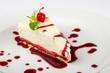 classic cheesecake in a raspberry - 67169798