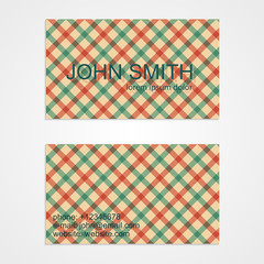 Business card template. Background pattern. Vector illustration.