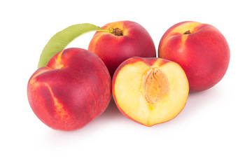 Group of fresh peaches