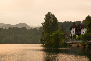 Picturesque house at famous lake Bled, Slovenia