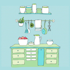 illustrated kitchen