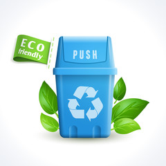 Ecology symbol trash can