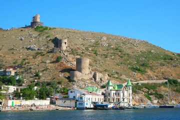 BALAKLAVA, CRIMEA - june 20, 2014: : Panorama of Balaklava sea b