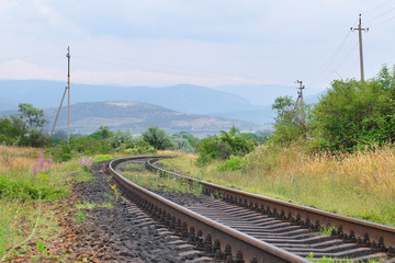 view of the railroad tracks