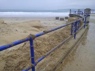 Daños temporal olas Santander